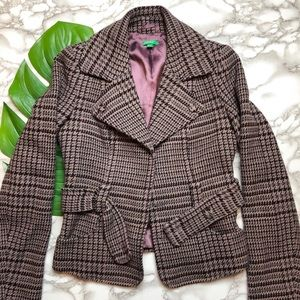 United Colors of Benetton Houndstooth Riding Coat